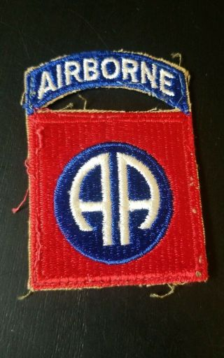 Authentic Wwii Us 82nd Airborne Patch Us Army