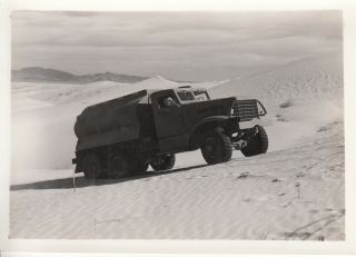 Wwii Photo Us Army Gas Fuel Tank Truck Desert Sand 1942 Camp Seeley 24