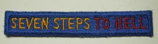 Ww2 7th Army Patch Tab - Seven Steps To Hell - Heavy Snowy Reverse