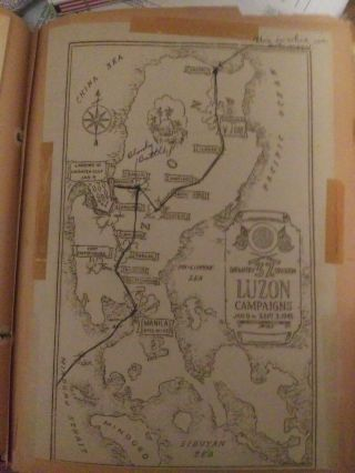 37th Division Ww2 Campaign Map And 17 Pages Of Newspaper Clips & Photos