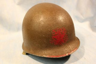 Wwii Us Army Helmet With Liner