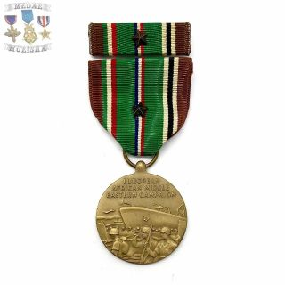 Wwii Us Army European African Middle Eastern Campaign Medal Battle Star Bin 20