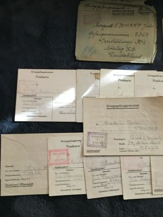 Wwii Pow Letters And Drawings
