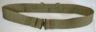 Wwii British / Canadian Army Web P37 Pistol Equipment Belt,  Size Large