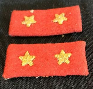 Pair Ww2 Wwii Imperial Japanese Army Private 1st Class Rank Collar Tab