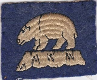 Wwii Wool Us Marine Corps Marine Detachment Iceland (blue)