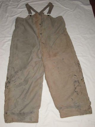 Ww2 Us Navy Insulated Deck Pants Overalls World War 2 Size Large