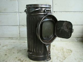 Wwii German Gas Mask Container Box Can.  Marked.  100.  2.