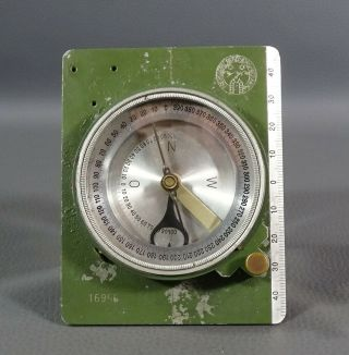 Wwii German Freiberg Military Field Marching Surveying Compass