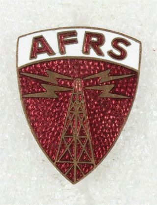 U.  S.  Army Di Pin: Armed Forces Radio Service Japan - P/b Japanese Made