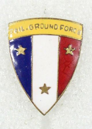 U.  S.  Army Di Pin: Philippine Ground Forces - P/b Philippine Made