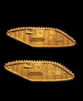 Wwii Ww2 Us Army Tank / Armor / Armour Corps Officer Branch Insignia Pins – Pair