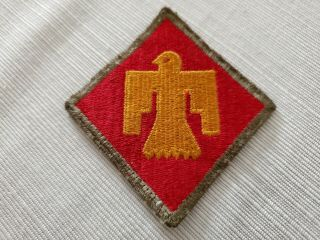 Us Army 45th Infantry Division Patch,  Oklahoma,  Sicily,  Salerno And Korea