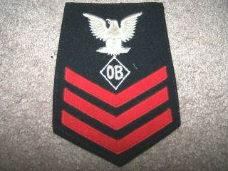 """Wwii Us Navy,  1st Class Petty Officer With A Specialist """" Ob """",  Blue,  1944"""