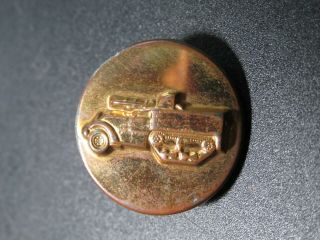 Wwii Us Army Armored Car Half Track Tank Destroyer Collar Lapel Insignia Pin