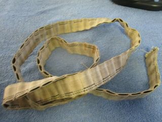 Vintage Ww2 Cloth Belt For Ammo 60 Inches Long.