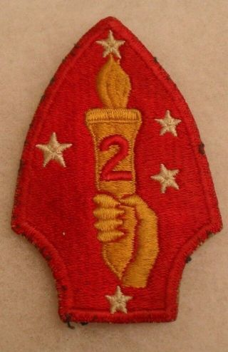 Great Wwii 2nd Marine Division Variant Yellow Hand Early War Cotton Ce Off Tunic