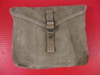 Wwii Era Us Army M1928 Haversack Meat Can Or Mess Kit Pouch - Khaki - 7