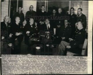 1943 Press Photo Allied Leaders At Conference In Casablanca,  French Morocco