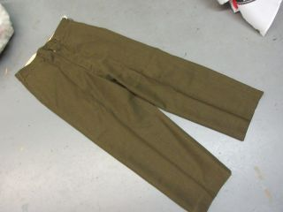 Us Army Ww2 Korean War Wool Enlisted Mans Trousers 33 X 28 Pants 1952 1957