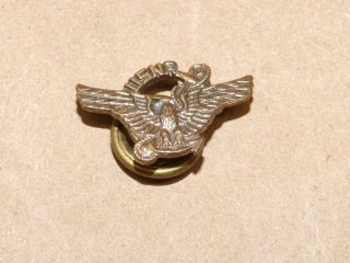 Vintage Wwii Usnr Us Naval Reserve Eagle Wings Lapel Pin W/ Screw Post