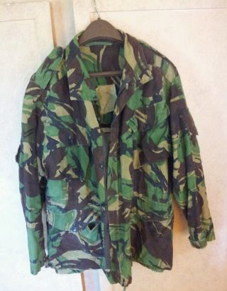Vtg Dpm Camo Camouflage Army Field Combat Smock Jacket.  Altered Hunting.  Look