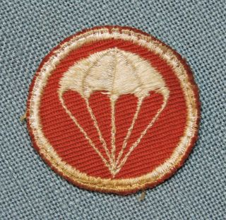 Wwii U.  S Army Airborne Overseas Cap Paratrooper Patch - Red