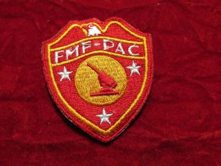 Usmc Marines Fleet Marine Force Pacific Antiaircraft Patch With Store Tag