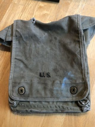 Wwii Us Army Map Bag Carter Bros.  1943