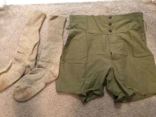 Ww2 Early Us Thick White And 1940s Dated Boxers