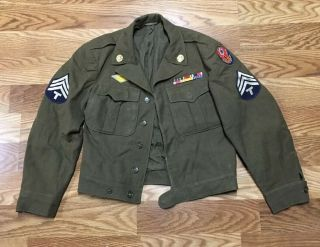 Wwii Ike Jacket 38r European Theater Command Tech Corporal Quartermaster Corps