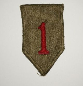 1st Infantry Division Greenback Patch Wwii Us Army P9996