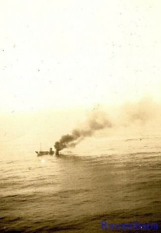 Org.  Photo: Aerial View Us Navy Pv - 1 Patrol Bomber Attack On Japanese Trawler