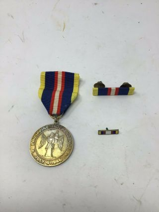 Philippine Independence Medal El Oro Jeweler Luzon City Pi