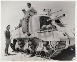 General Grant Tank After Clash With German Panzer Tank In Egypt - 1942