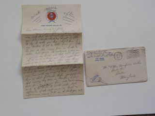 Wwii Letter 1944 Paratrooper Death Injuries 80 501st Parachute Infantry Ww2