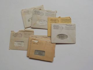 18 Wwii V - Mail Letters 7th Army I Armored Corps Marion Massachusetts Soldier Ww2