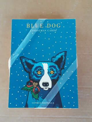 Rare George Rodrigue Blue Dog Christmas Cards - 2000 15 Total W/envelopes