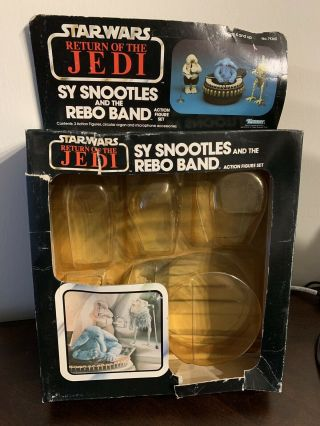 Star Wars Sy Snootles Rebo Band Cardback W Attch Bubble 1983 Kenner Vintage