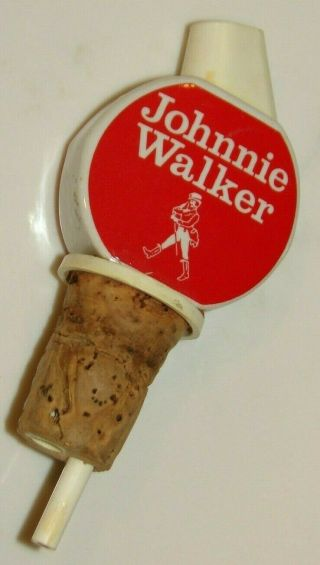 Ready To Pour Pub Use Red Johnnie Walker Scotch Whisky Bottle Pourer Spout