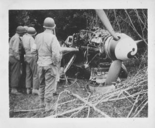 Wwii Summer 1944 Us Army 35th Evac Hosp France Photo 2 Wrecked German Airplane