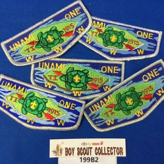 Boy Scout Oa 5 Unami Lodge 1 All Different Order Of The Arrow Flap Patches