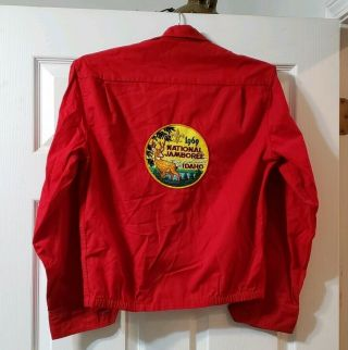 Vtg Bsa Boy Scouts National Jamboree Patch Idaho 1969 Red Jacket