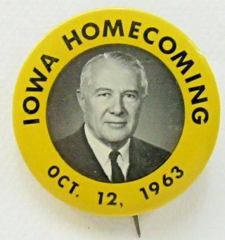"1963 Iowa Homecoming Football 2 "" Pinback Button ^"