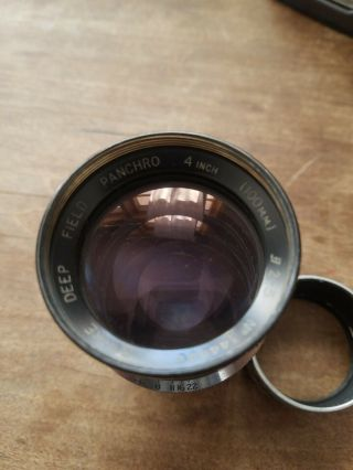 Vintage Cooke Deep Field Panchro 4 Inch (100mm) 2.  5 No.  344990.  Taylor.  Fungus
