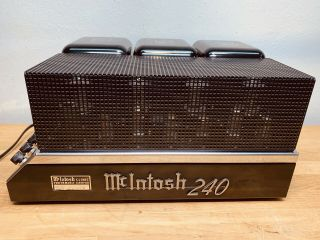Vintage Mcintosh Mc - 240 Stereo Hifi Tube Amplifier 1 Owner