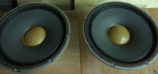 Vintage Tannoy 15 Lhs Pair Speakers Lsuhf15l Dual Crossovers Silver Pristine
