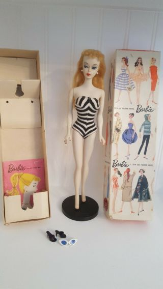 Vintage Barbie Ponytail 1 With Stand