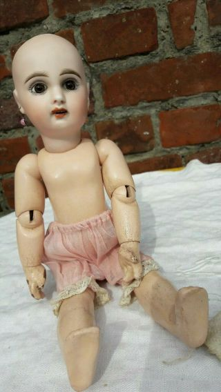 Small 11,  5 Inches Antique Jumeau Doll Size 3 Open Mouth