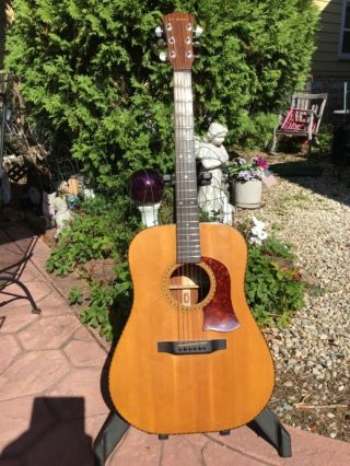 Vintage 1976 Mossman Acoustic Guitar W/original Hardcase/hand Made In The Usa